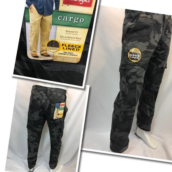 1a112b33ff3ee Wrangler Pants | Cargo Camouflage Fleece Lined | Poshmark